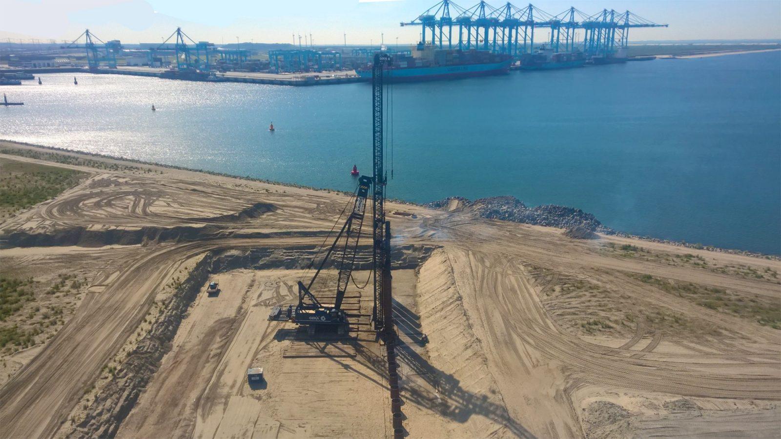 Natheiwerk Combiwand SIF Verbrugge Maasvlakte II